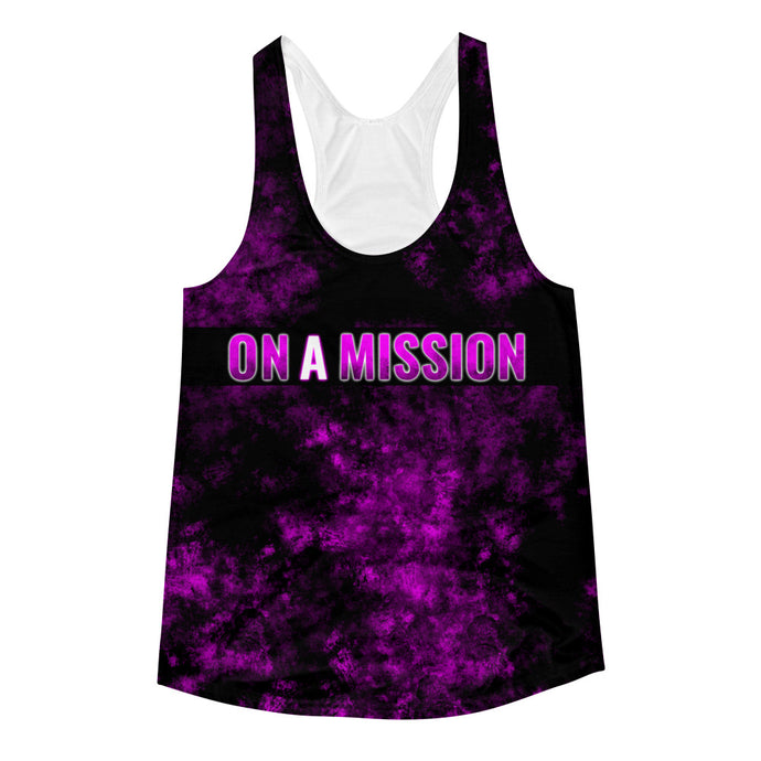 Bigger Dreamz - On A Mission 2 - Women's Racerback Tank