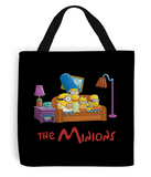 simpsons minions tote bag black