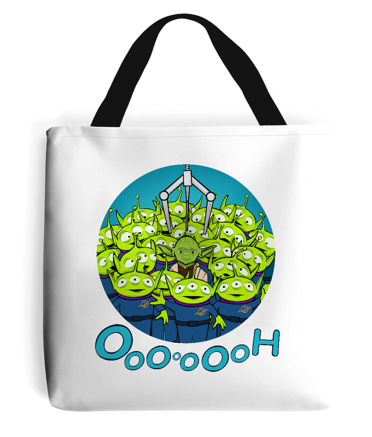 Toy Yoda Tote Bag