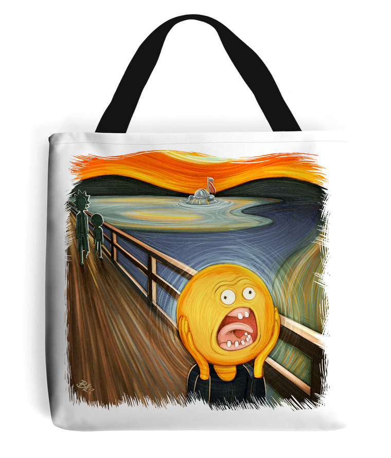 Rick & Morty Screaming Sun Tote Bag