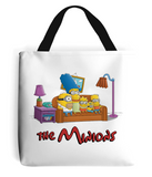 simpsons minions tote bag white