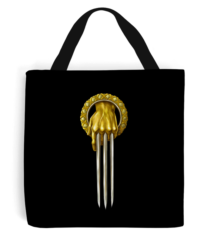 game of thrones hand of the wolverine tote bag