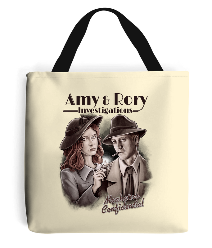 Doctor Who Amy & Rory P.I Tote Bag