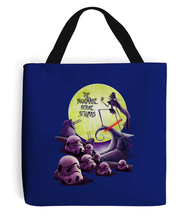star wars nightmare before christmas tote bag