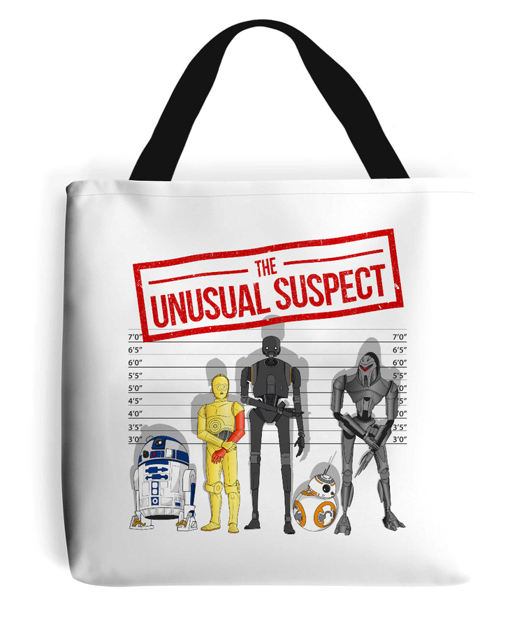 The Unusual Suspect Tote Bag