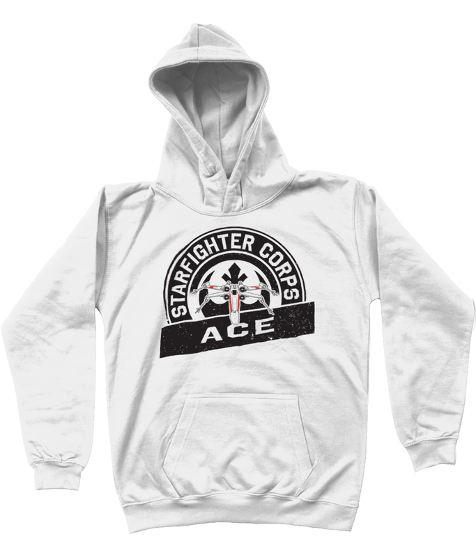 Star wars hoodie starfighter corps kids white