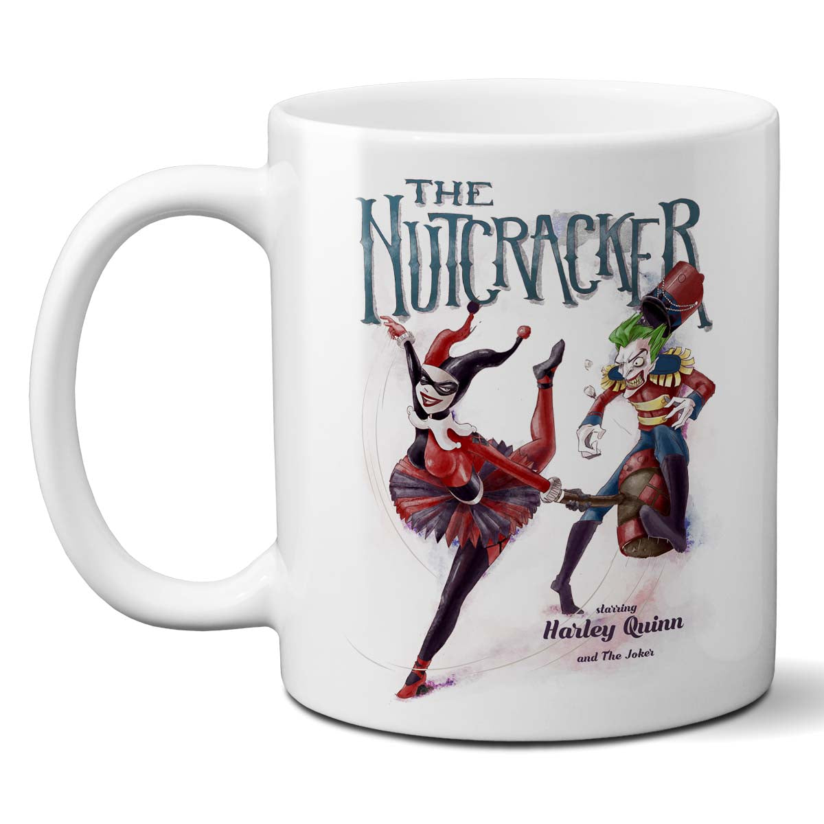 the nutcracker mug joker and harley quinn