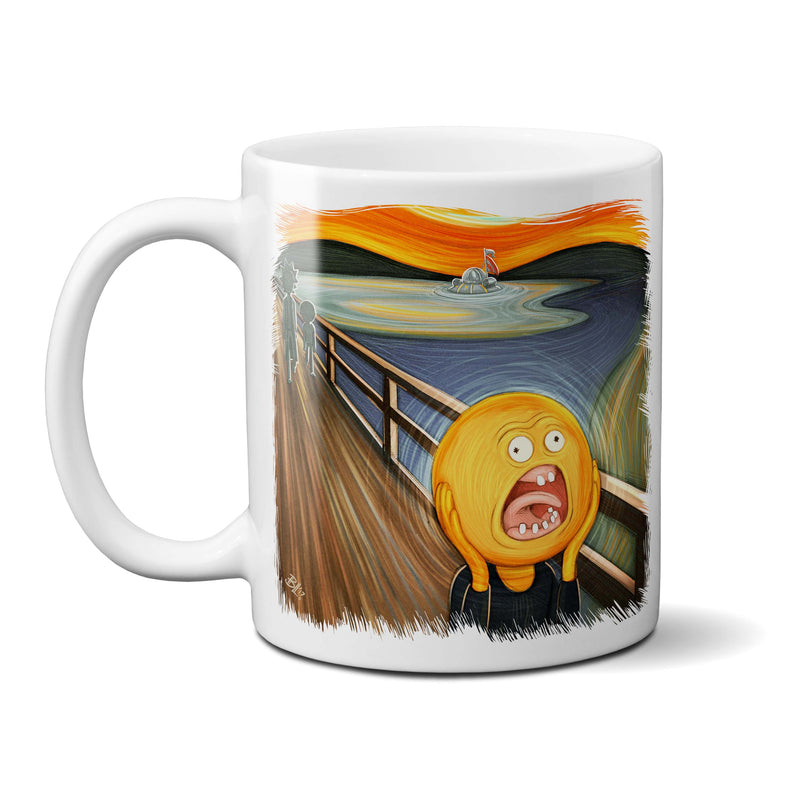 rick and morty screaming sun mug