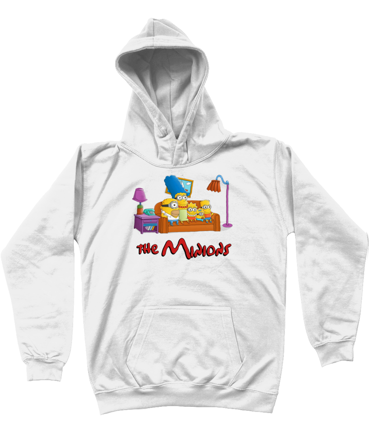 The Simpsons vs Minions Kids Pullover Hoodie