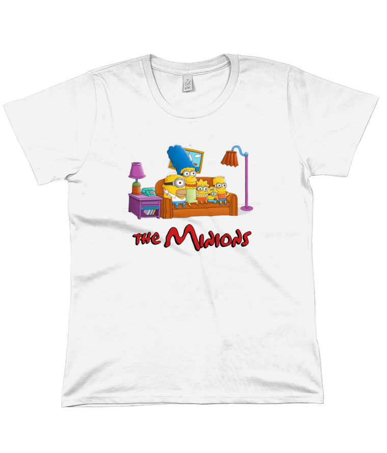 The Simpsons vs The Minions Women's Flowy Tee
