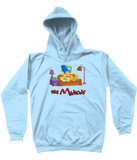 simpsons minions kids hoodie light blue