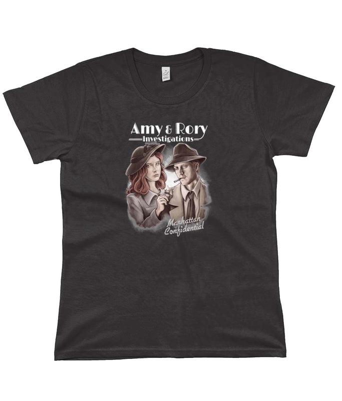 doctor who tees amy and rory dark grey