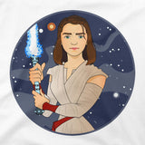 GoT vs Star Wars Arya Stark Graphic Tee