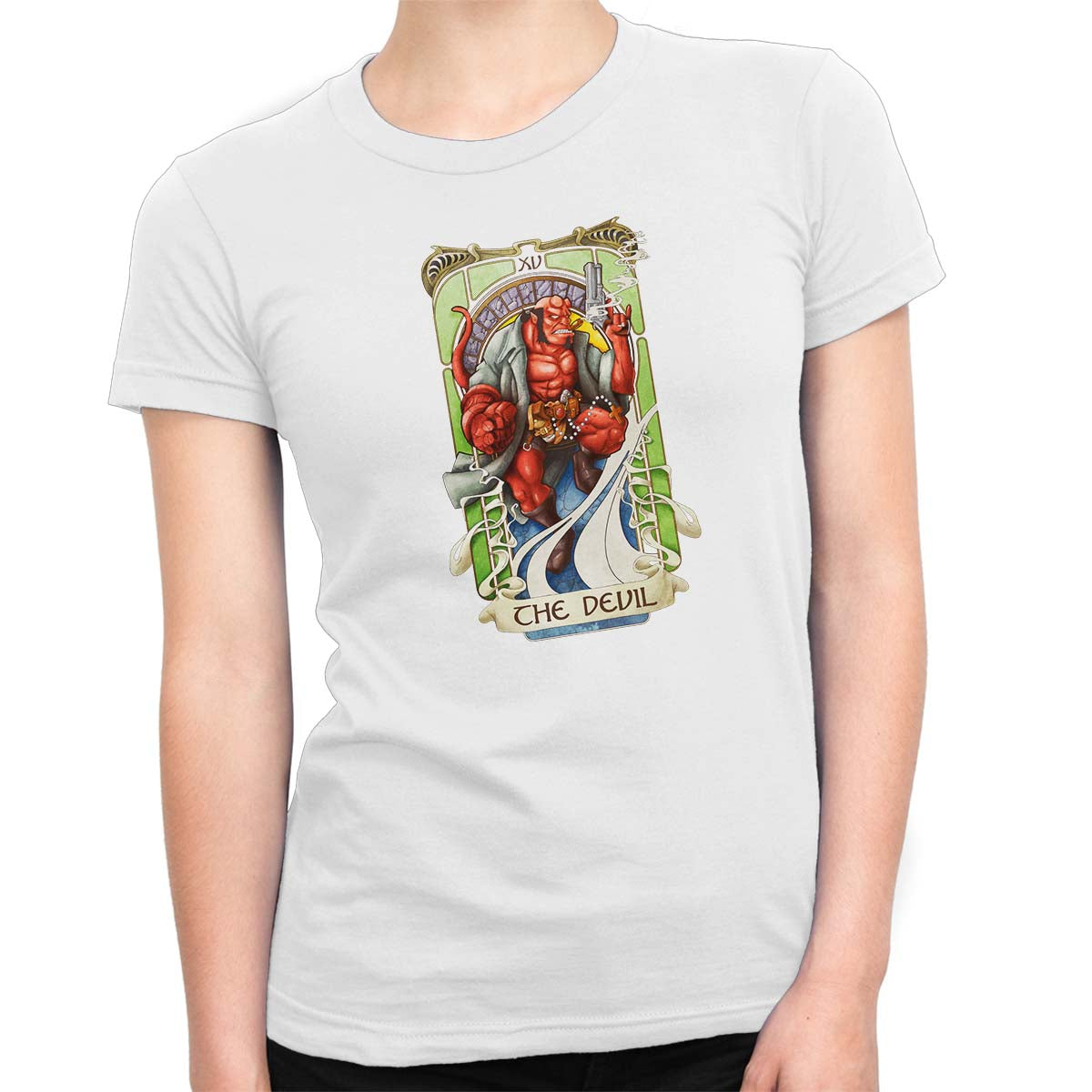 The Devil Tarot Women's Classic Fitted Tee