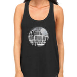 star wars death star racerback tank