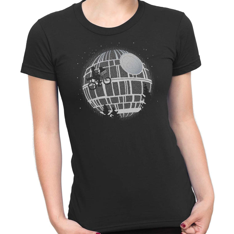 Fly Me To The Death Star Women's Classic Fitted Tee