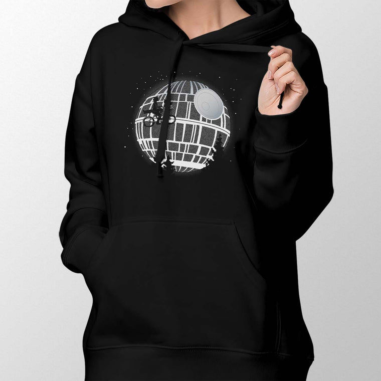 Fly Me To The Death Star Women's Pullover Hoodie