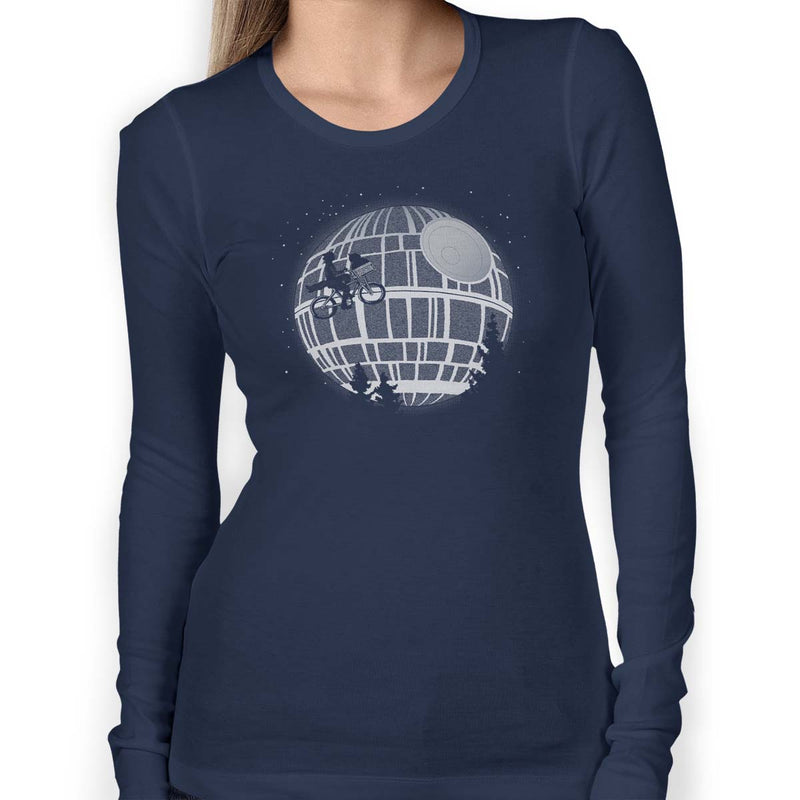 star wars death star long sleeve tee