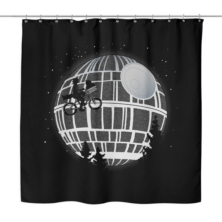 Star Wars Fly Me To The Death Star Shower Curtain