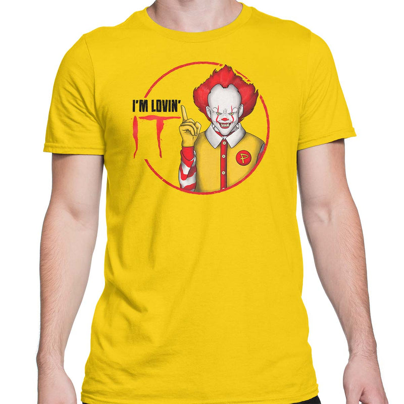 pennywise t-shirt mens yellow