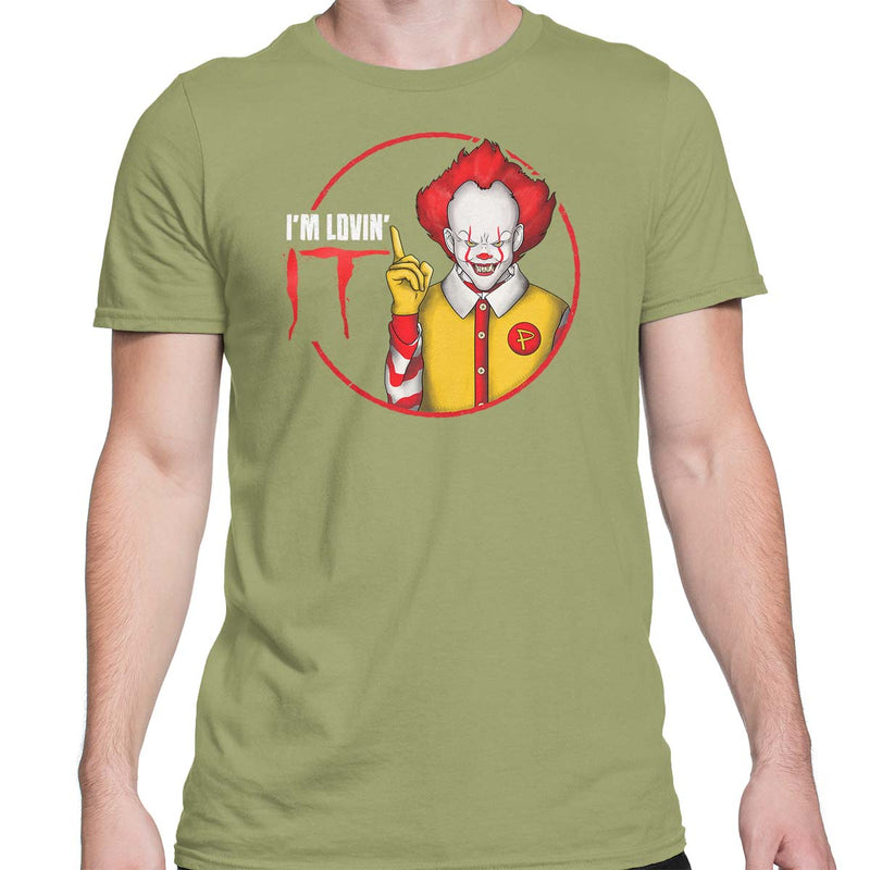 pennywise i'm lovin it mens t-shirt green