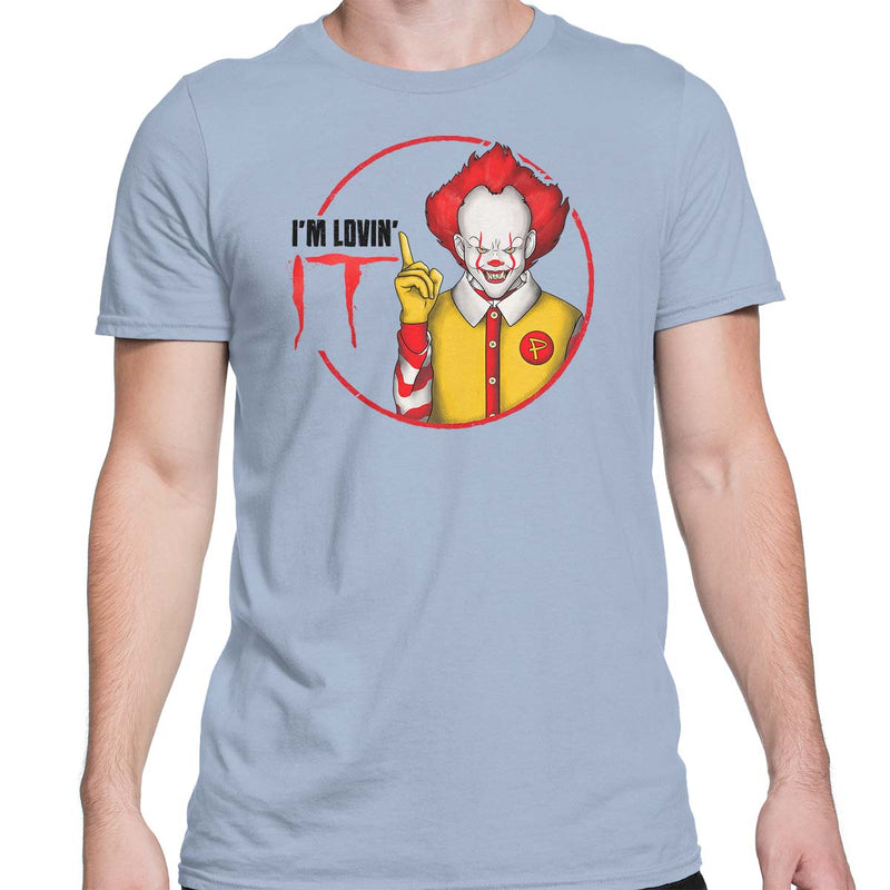 pennywise t-shirt mens light blue