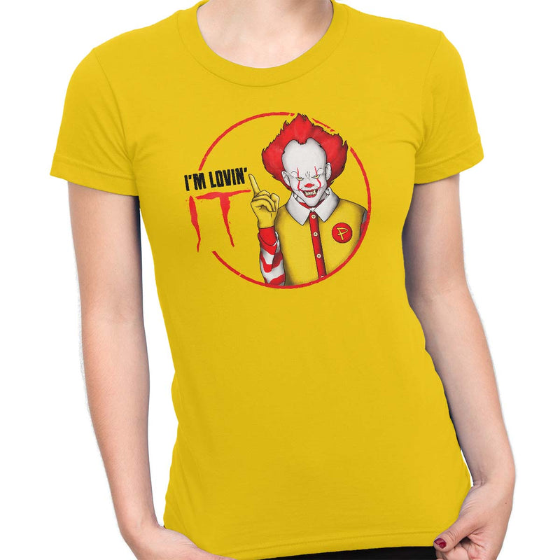 pennywise funny t-shirt yellow