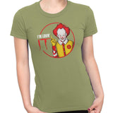pennywise funny t-shirt green