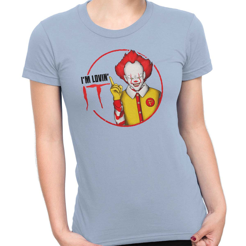 pennywise funny t-shirt light blue
