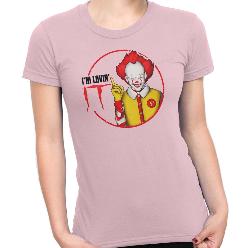 pennywise funny t-shirt pink