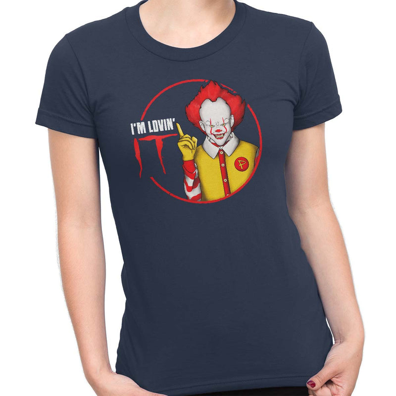pennywise funny t-shirt navy