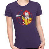 pennywise funny t-shirt purple