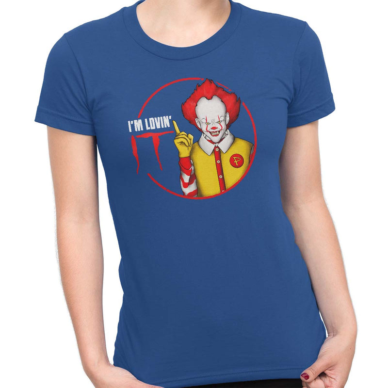 pennywise funny t-shirt blue