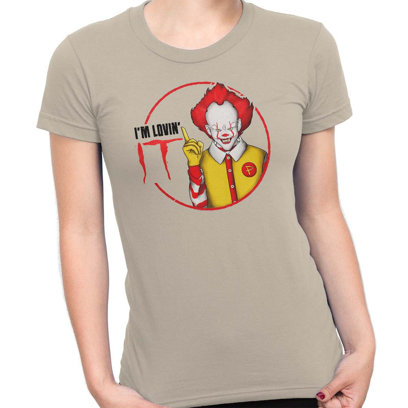 pennywise funny t-shirt beige