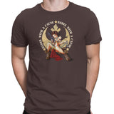 star wars rebel with a cause tshirt brown