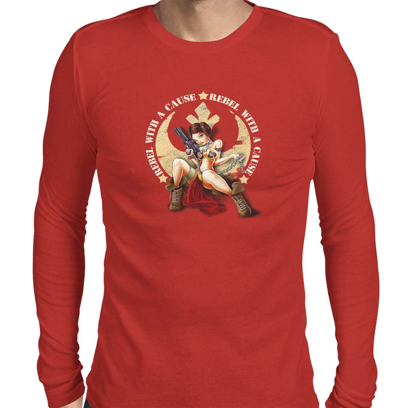 star wars rebel with a cause long sleeve red