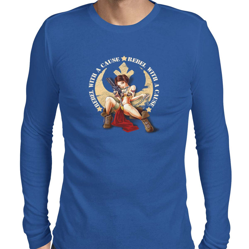 star wars rebel with a cause long sleeve blue