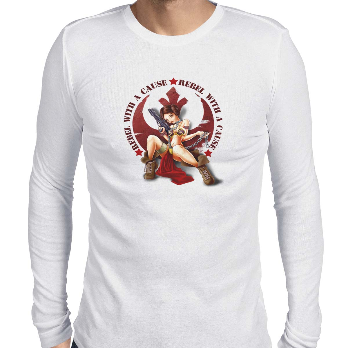 star wars rebel with a cause long sleeve white