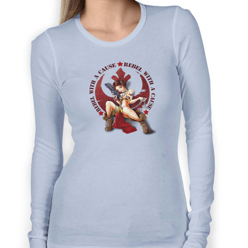 star wars rebel with a cause long sleeve light blue