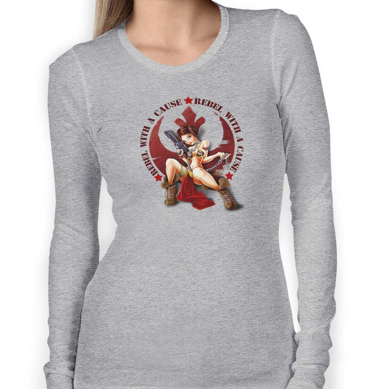 star wars rebel with a cause long sleeve grey