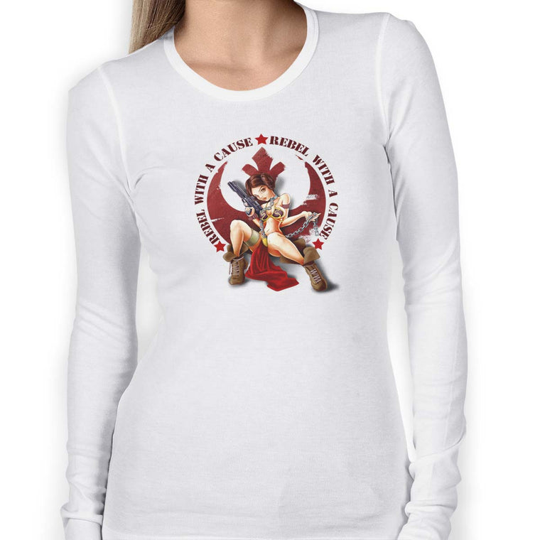 Rebel With a Cause Women's Long Sleeve Tee