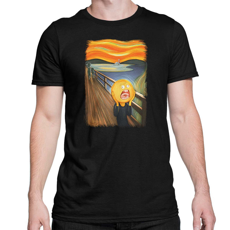rick and morty screaming sun tshirt black