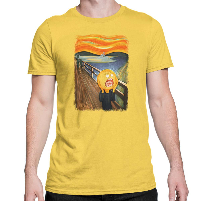rick and morty screaming sun tshirt yellow