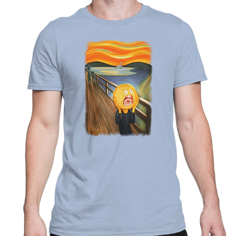 rick and morty screaming sun tshirt light blue