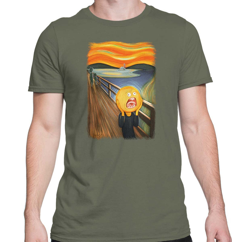 rick and morty screaming sun tshirt army