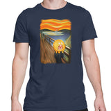 rick and morty screaming sun tshirt navy