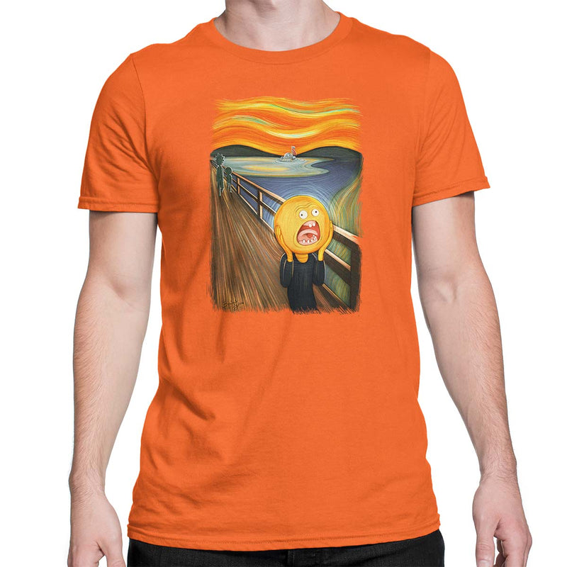 rick and morty screaming sun tshirt orange