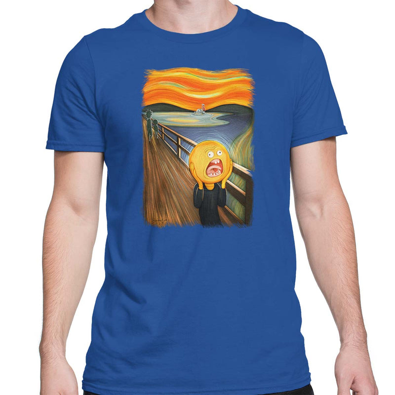 rick and morty screaming sun tshirt blue