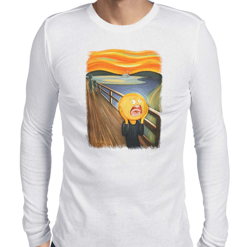 rick and morty screaming sun long sleeve tee white