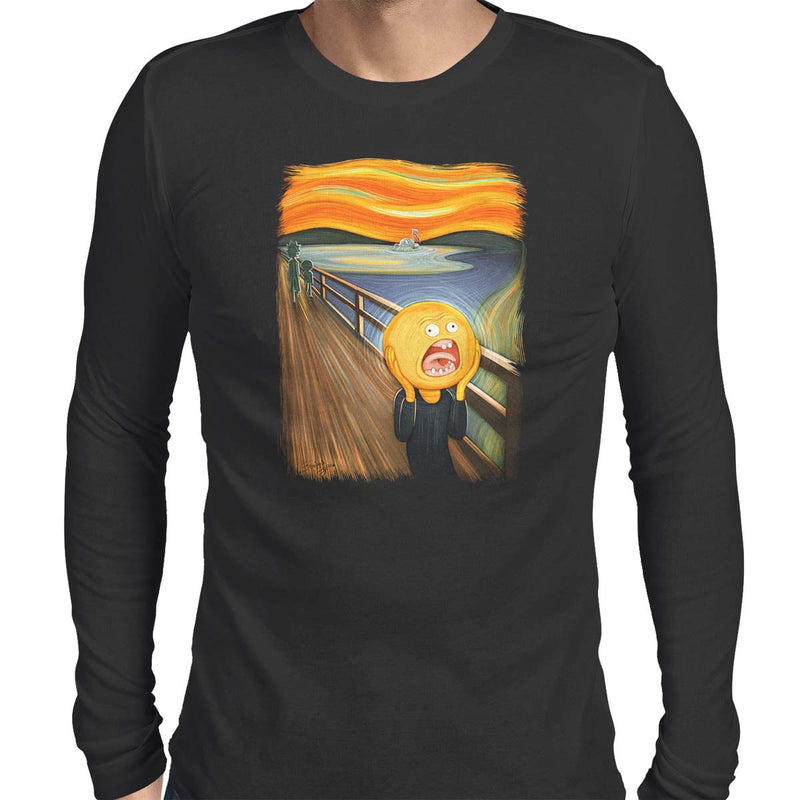 rick and morty screaming sun long sleeve tee black